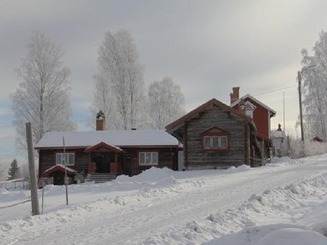 Hus i vinterlandskap